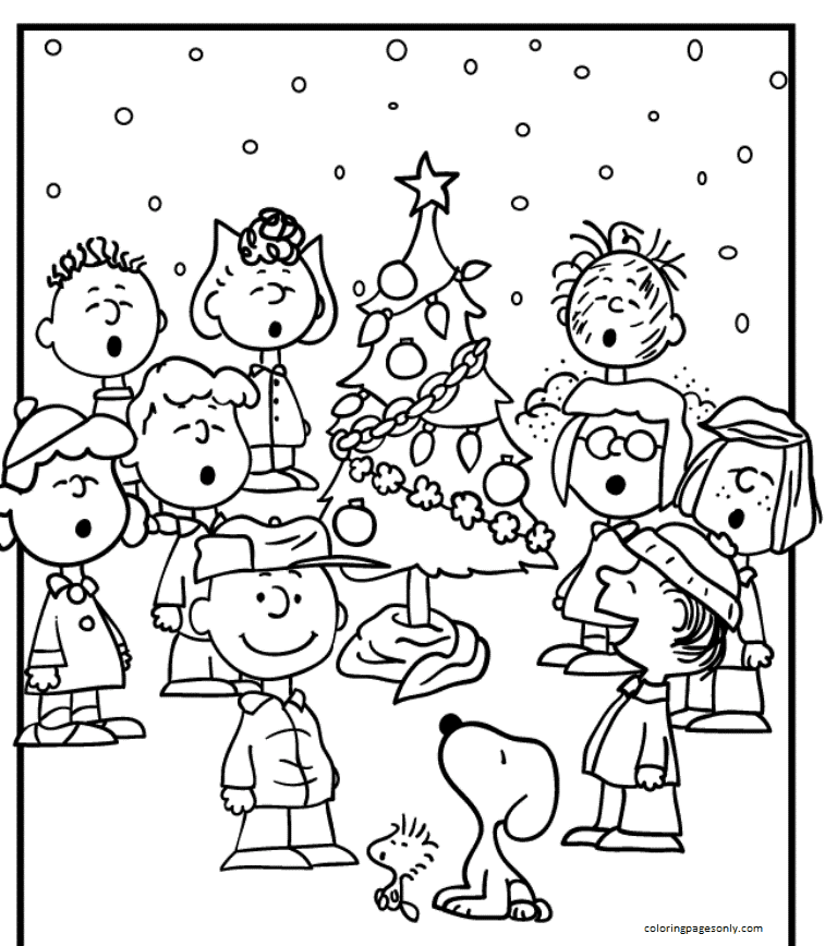Download Snoopy Free Coloring Page