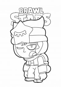 Sandy from Brawl Stars seem to be tired Coloring Page