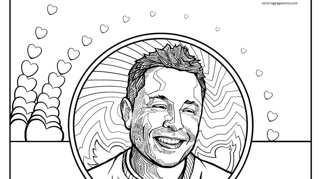 Elon Musk 4 Coloring Page