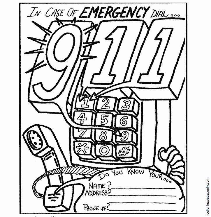 Emergency Image Coloring Page