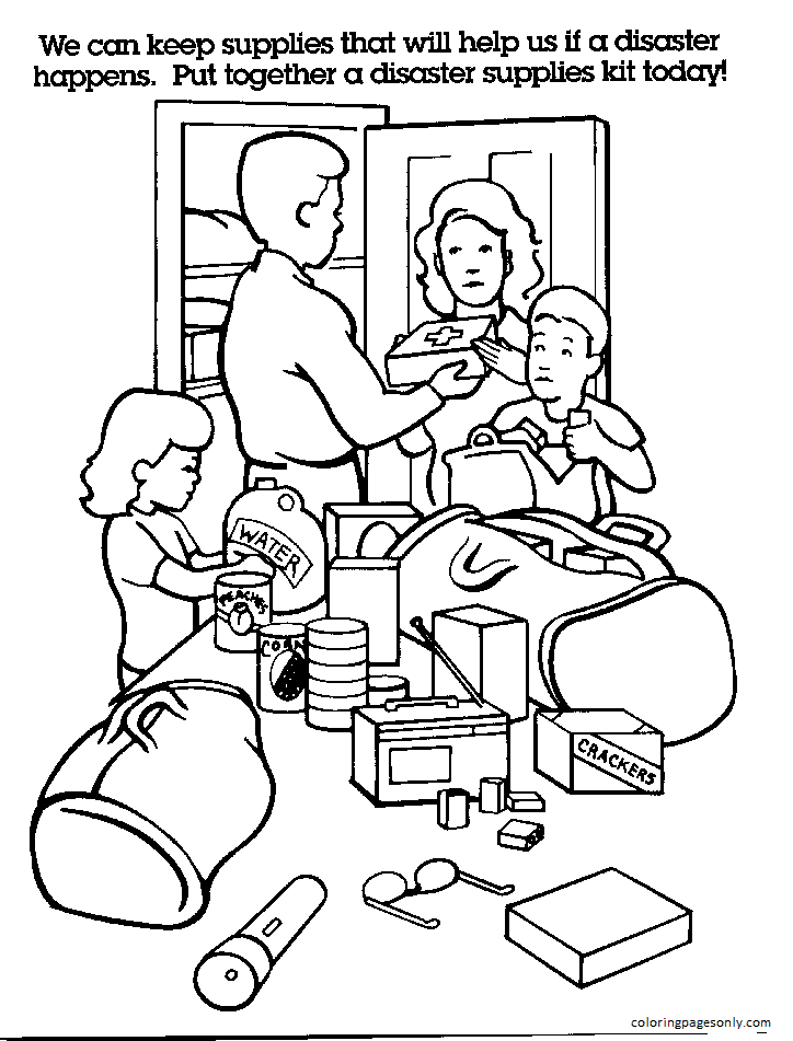 Emergency Pictures Coloring Page
