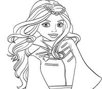 Evie from Descendants Coloring Page