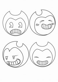 Fifty-shaded of Bendy from Bendy and the Ink Machine Coloring Page