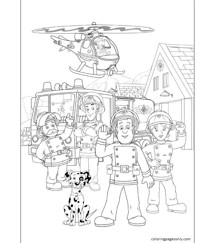 Fireman Sam 1 Coloring Page