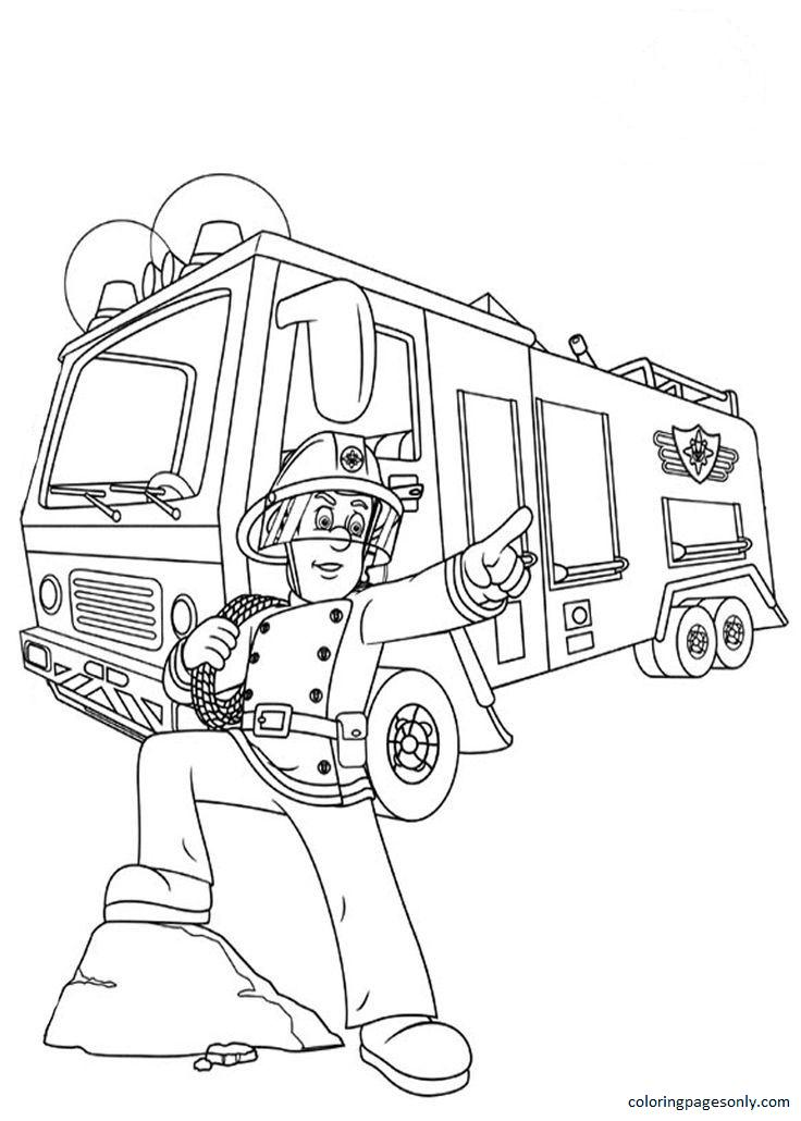 Fireman Sam Coloring Page