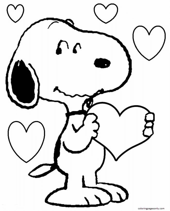 Free Download Snoopy Coloring Page