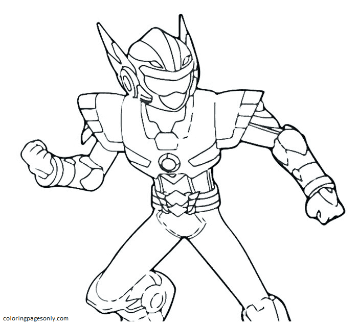 Free Pintable Miniforce Coloring Page