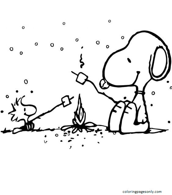Free Printable Charlie Brown Christmas Coloring Page