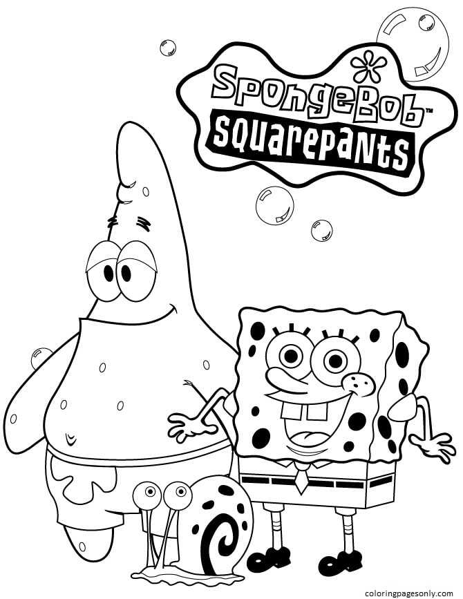 Free Printable Spongebob 2 Coloring Page