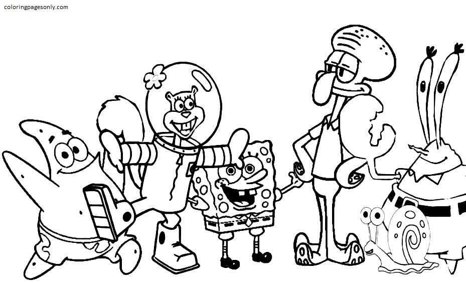 Free Printable Spongebob 3 Coloring Page