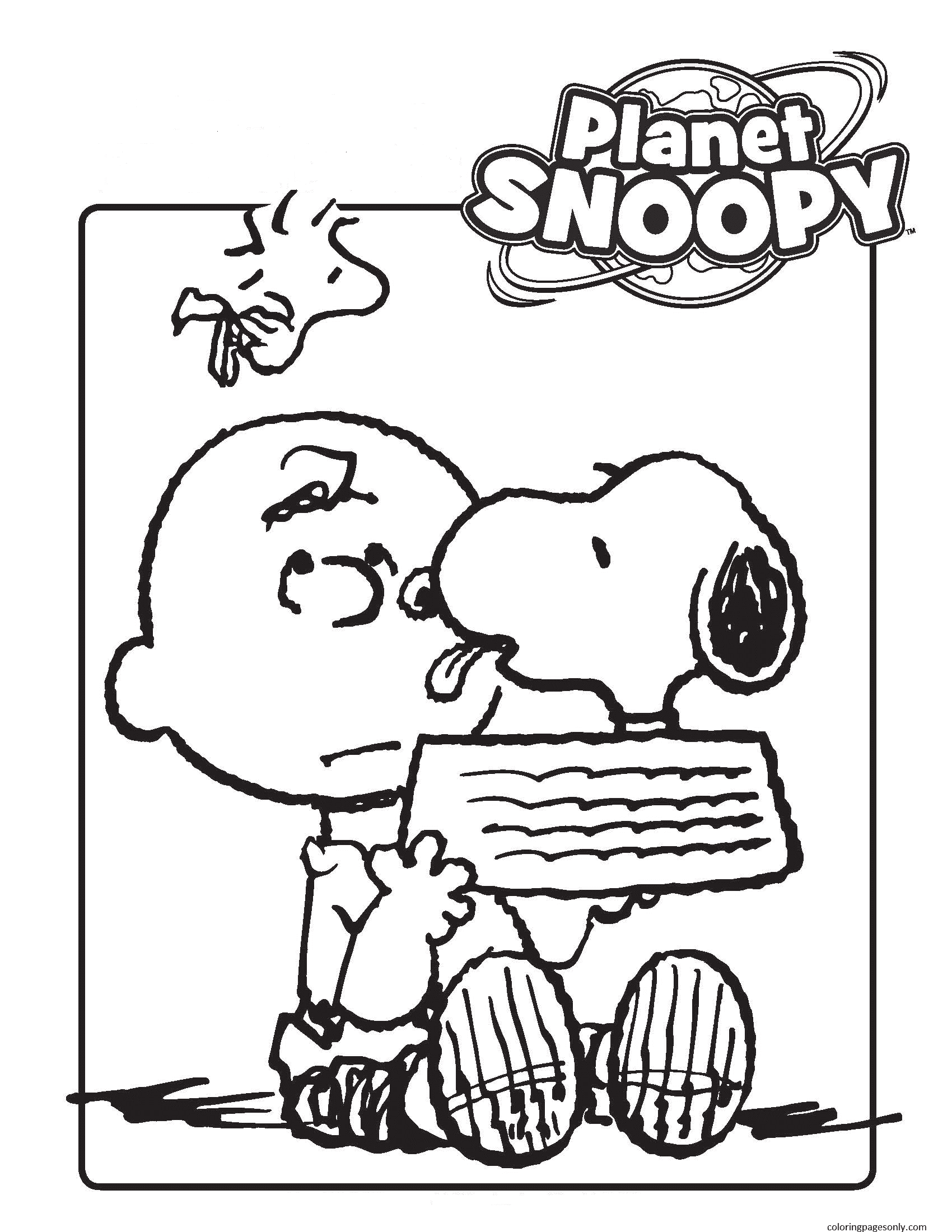Free Snoopy Birthday Coloring Page