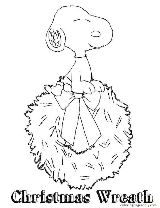Free Snoopy Christmas Coloring Page