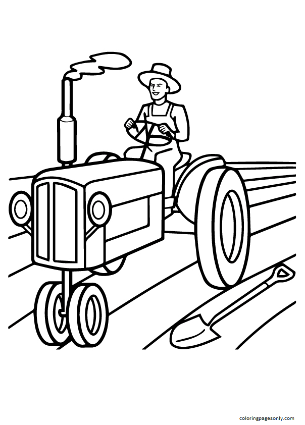 Free Tractor Sheets Coloring Page