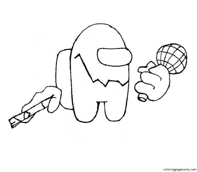 Friday Night Funkin Impostor Coloring Page