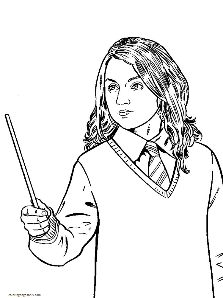 Friend Harry Potter 2 Coloring Page