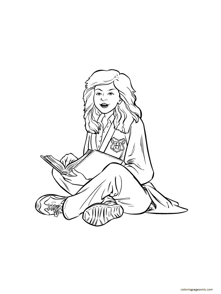 Friend Harry Potter Coloring Page