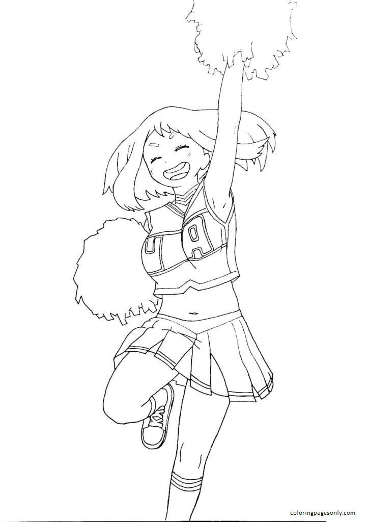Girl dancing Coloring Page