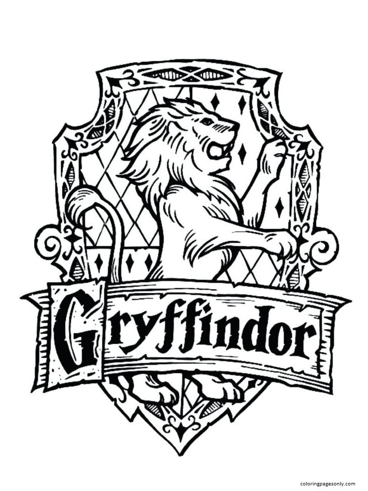 Gryffindor Symbol Coloring Page