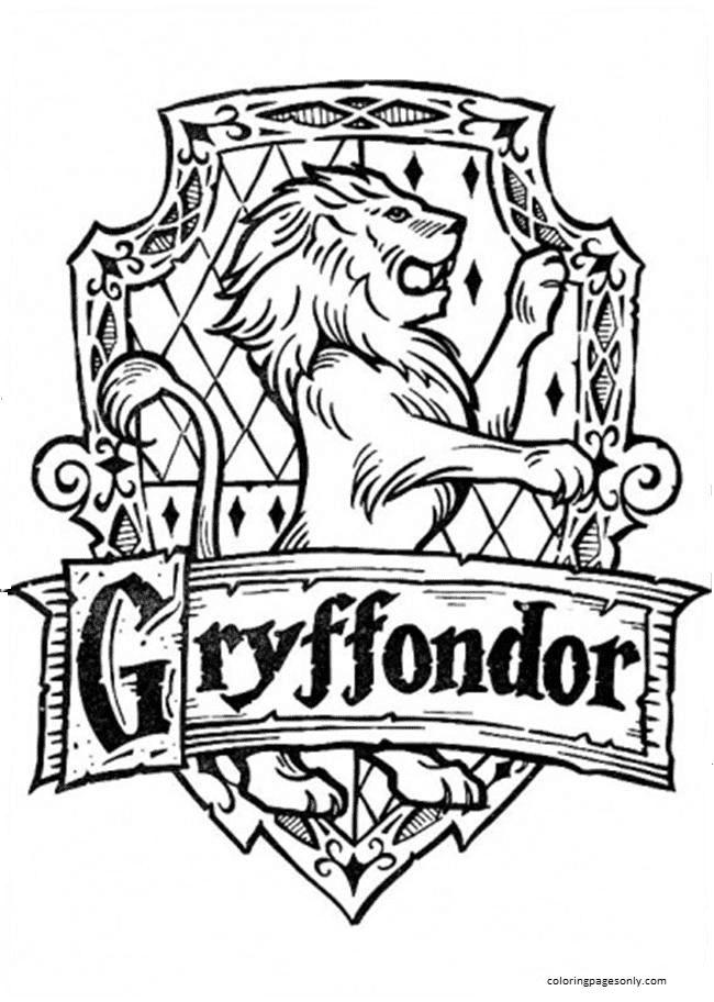 Gryffondor Coloring Page