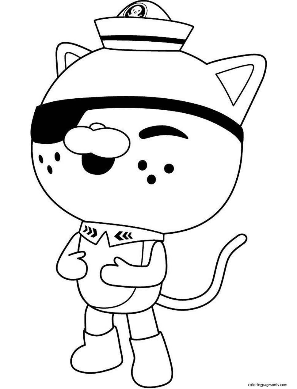 Happy Kwazii Coloring Page