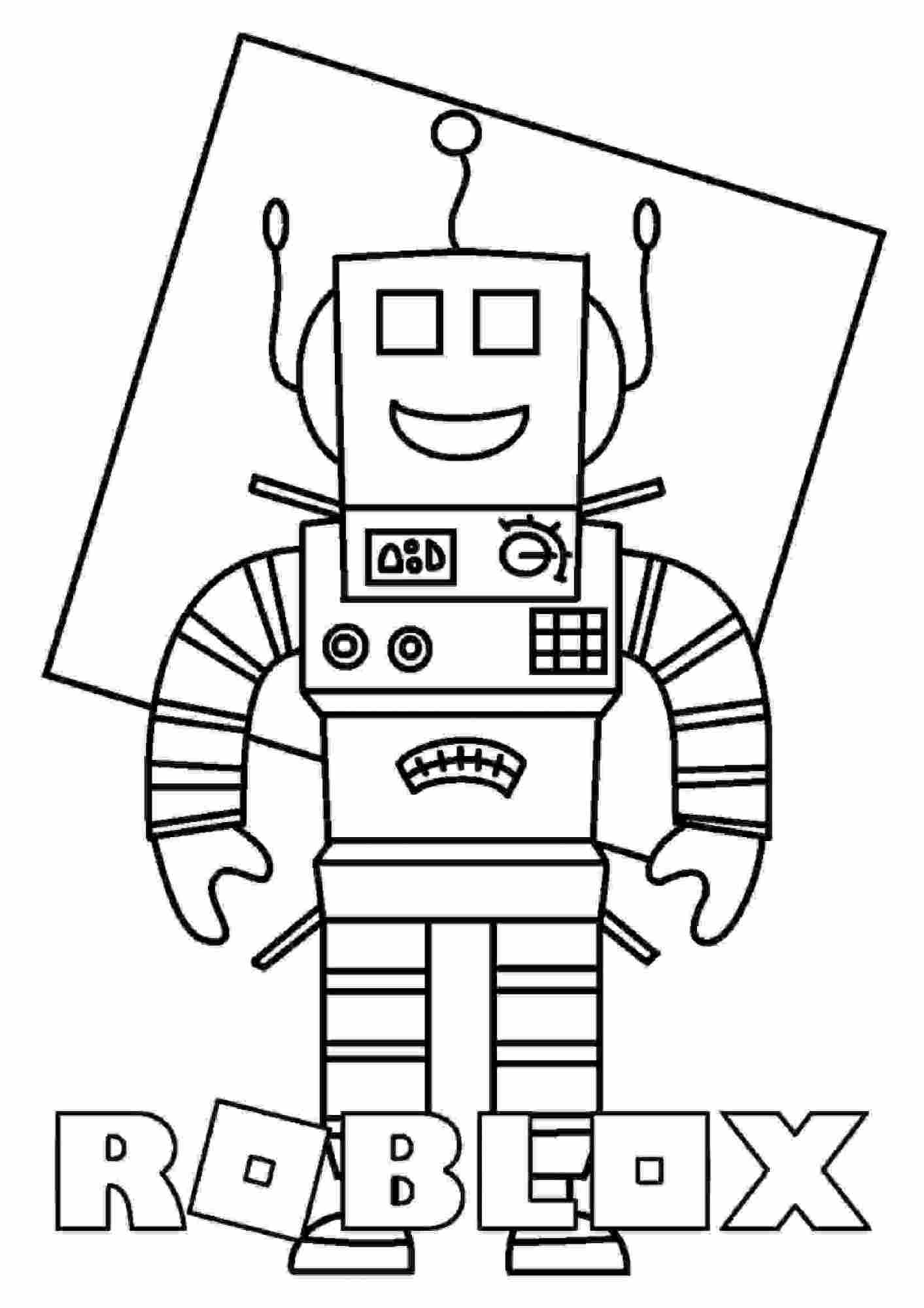 Happy Mr.Robot from Roblox Coloring Pages