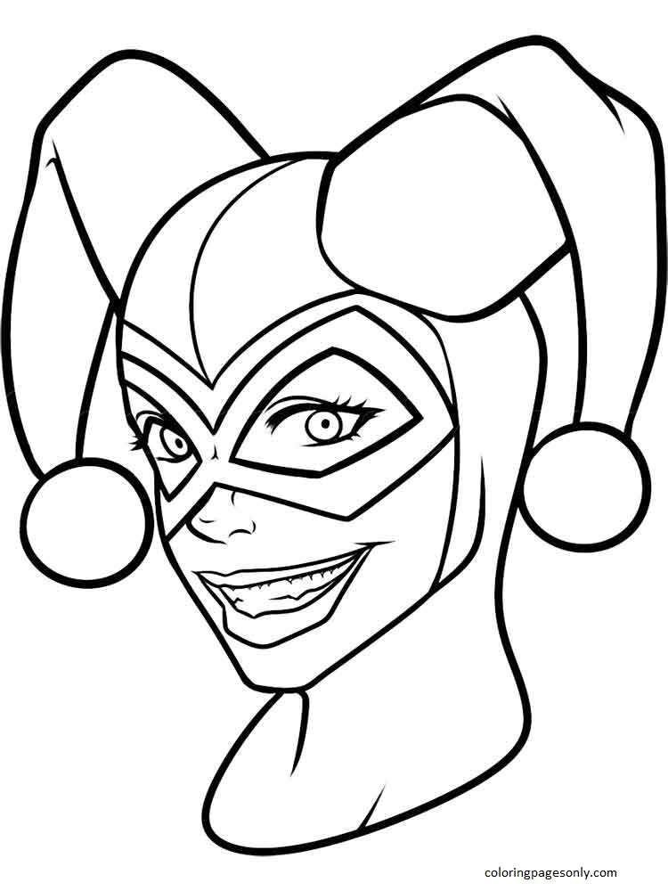 Harley Quinn 4 Coloring Page