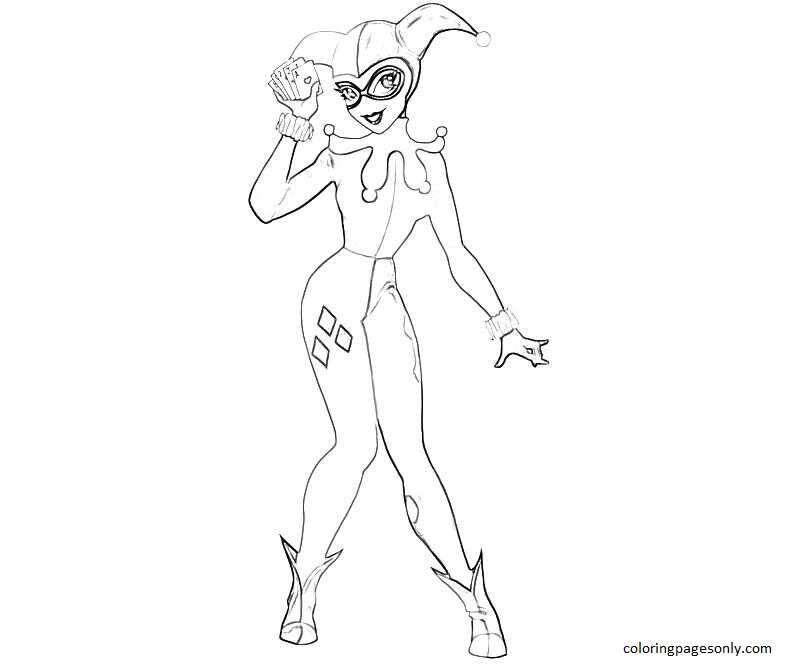 Harley Quinn 8 Coloring Page