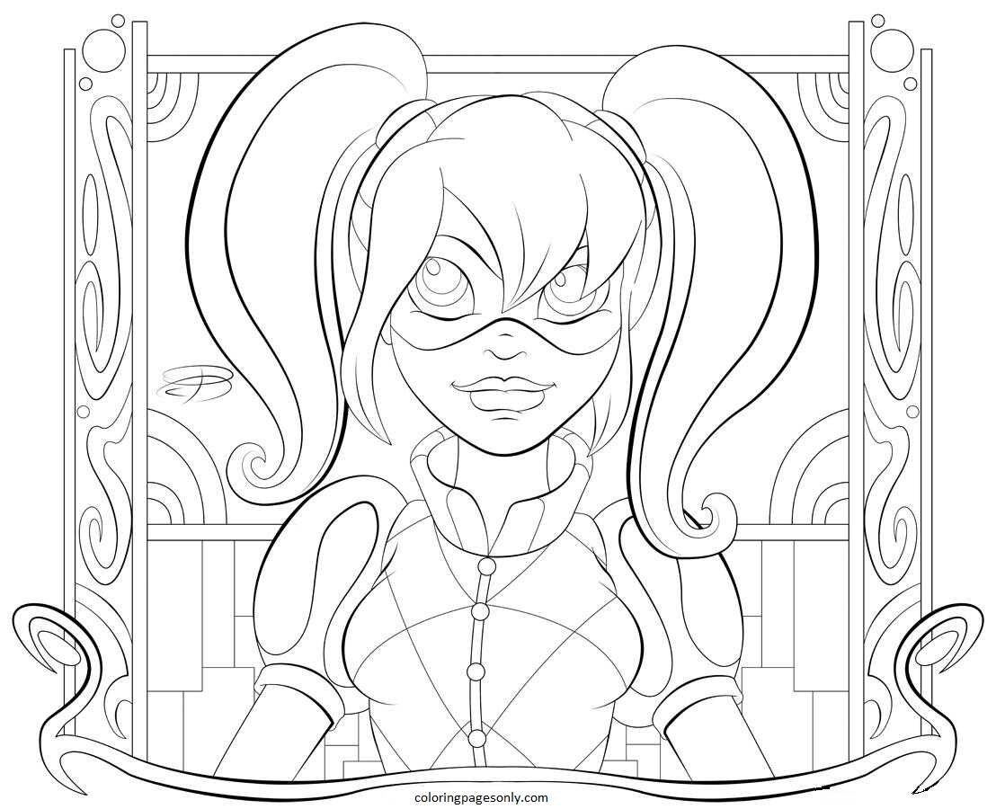 Harley Quinn 9 Coloring Page