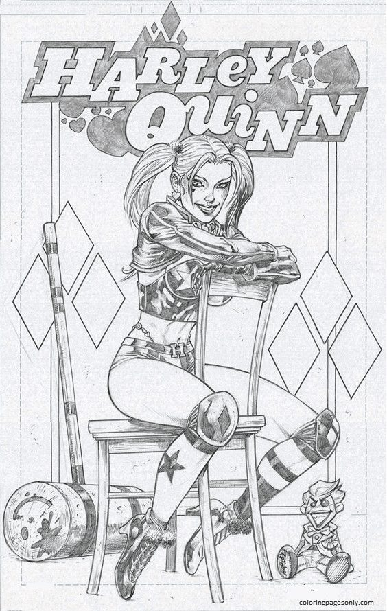 Harley Quinn And Joker 7 Coloring Page