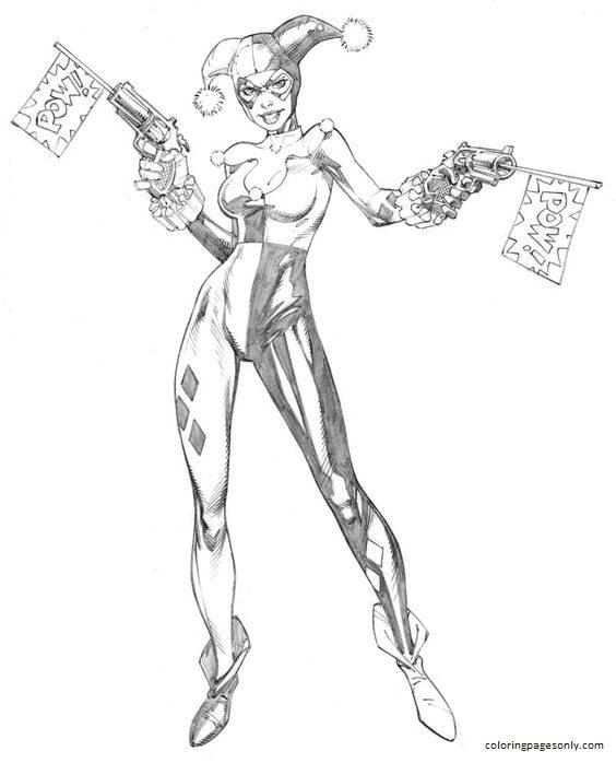 Harley Quinn DC Comics 2 Coloring Page