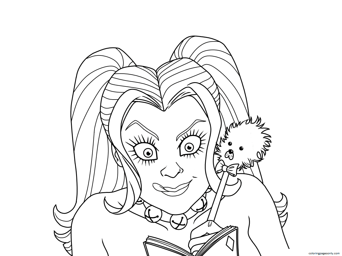 Harley Quinn DC Universe Coloring Page