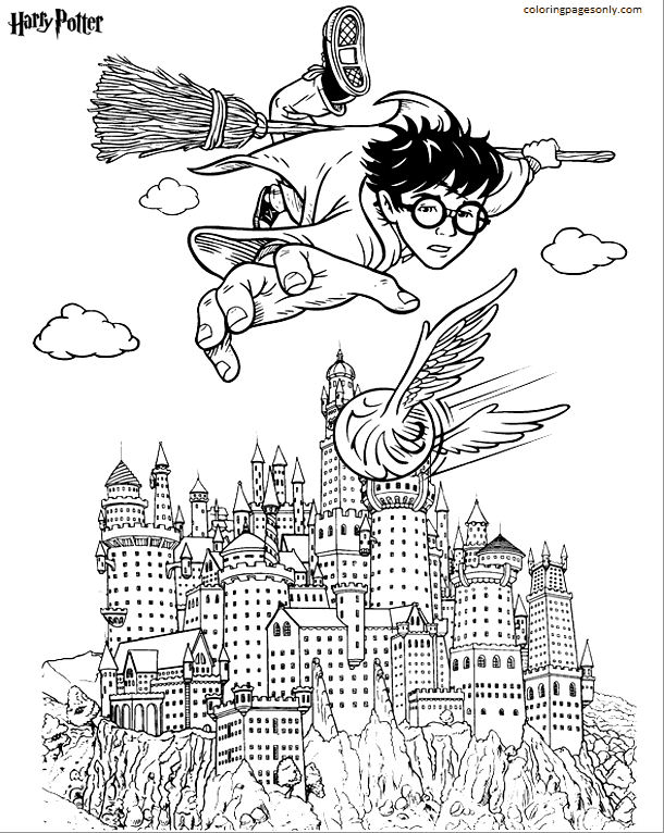 Harry Poter Lego Coloring Page
