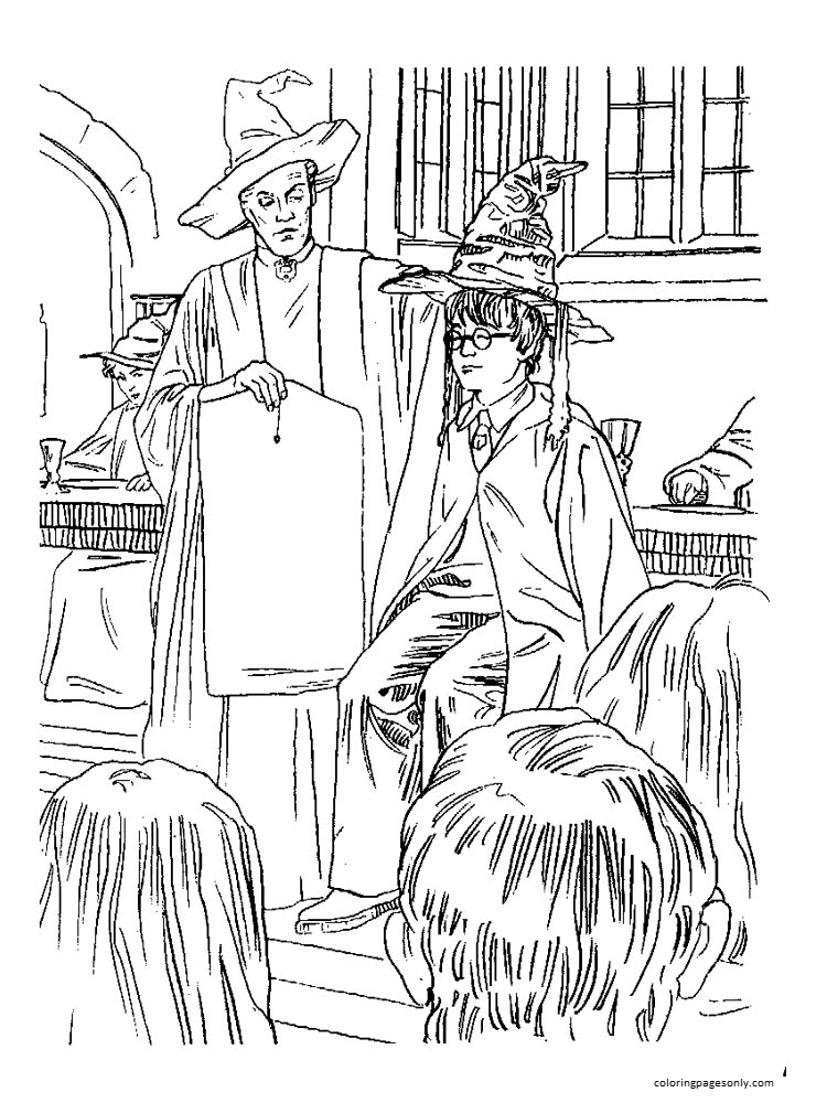 Harry Poter 13 Coloring Page