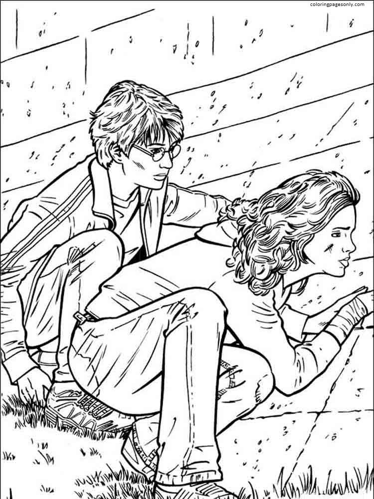 Harry Potter and Friend 4 Coloring Page