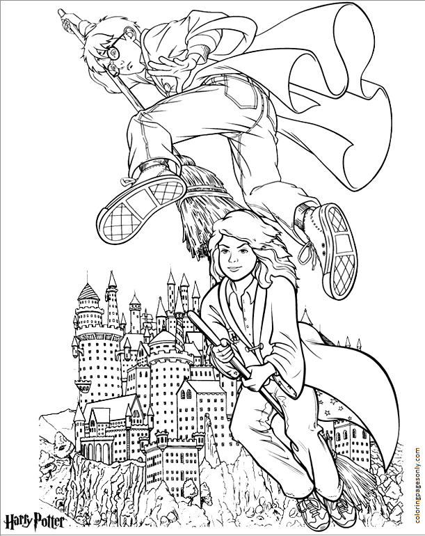 Harry Potter and Friend 6 Coloring Page