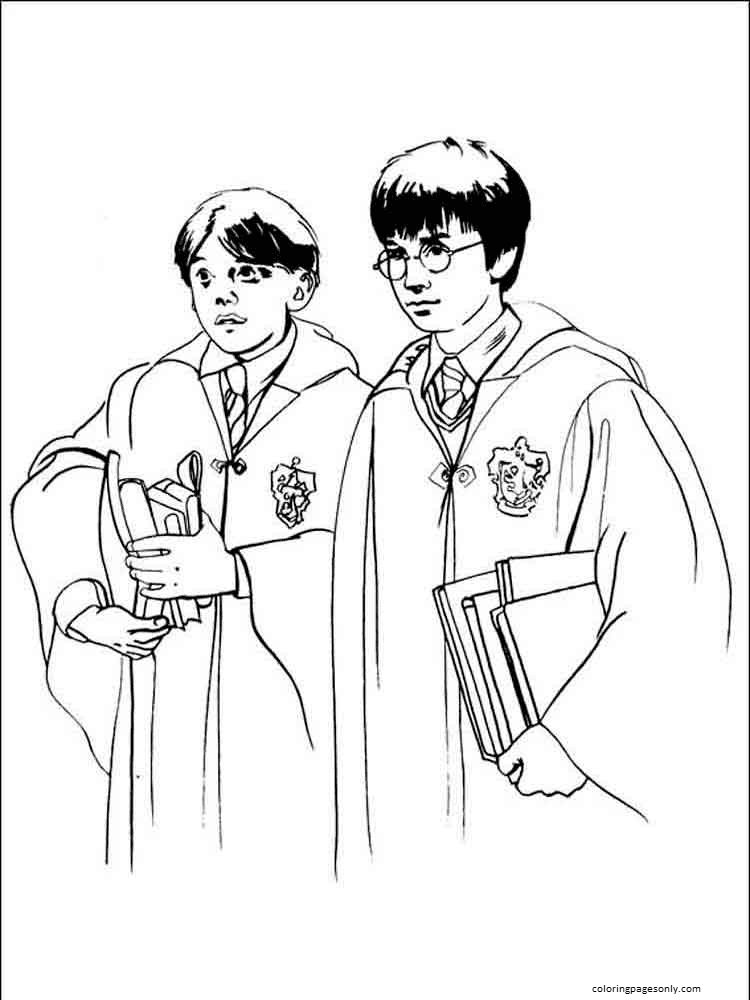Harry Potter and Friend Coloring Page
