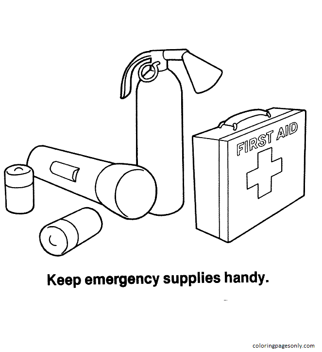 Health And Safety Coloring Page