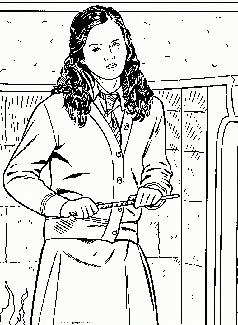 Hermione Granger 1 Coloring Page