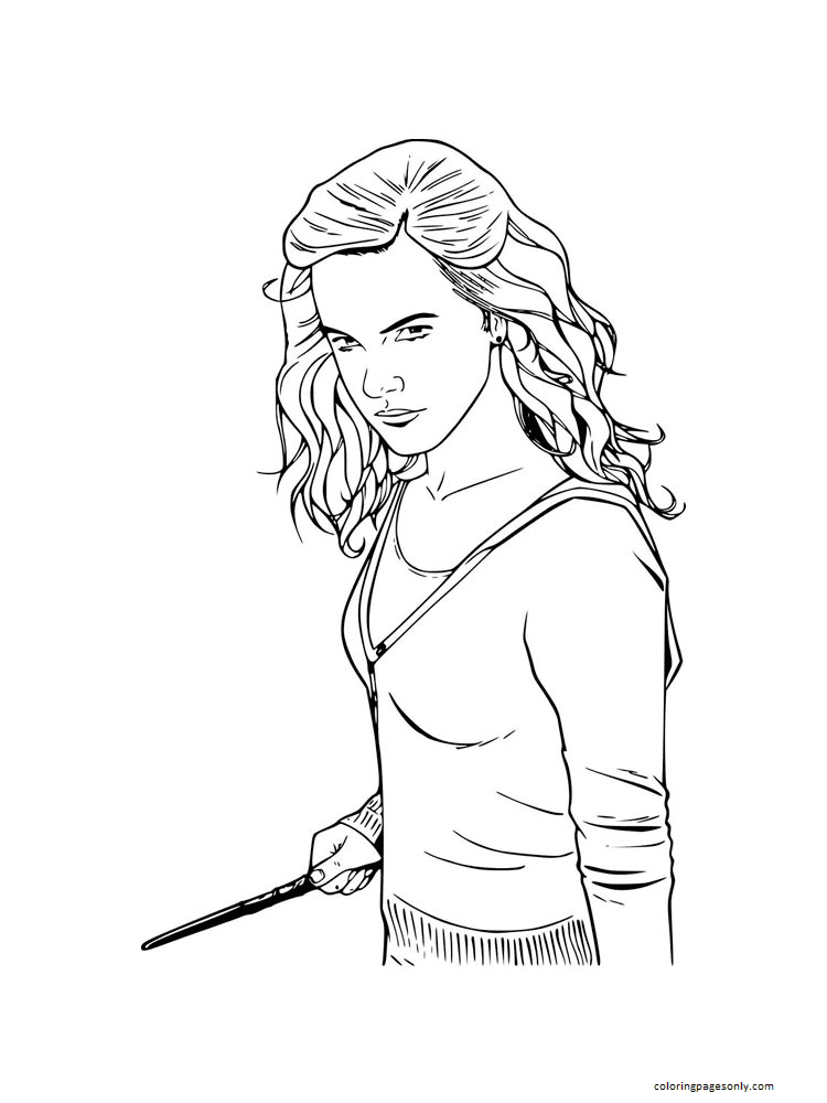 Hermione Granger 2 Coloring Page