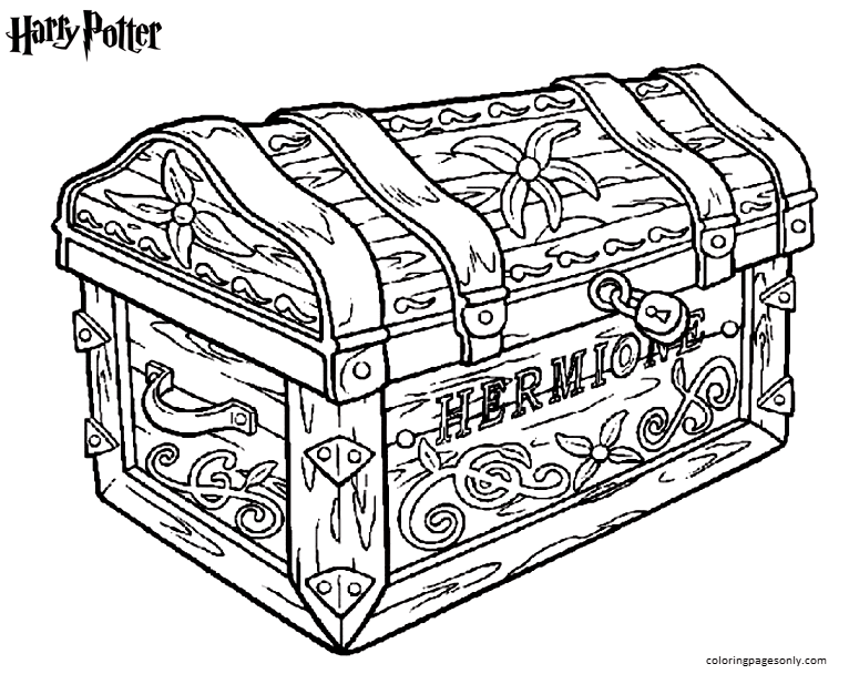 Hermione Coloring Page
