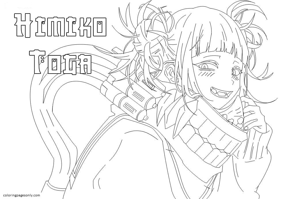 Himiko Toga In MHA Coloring Page