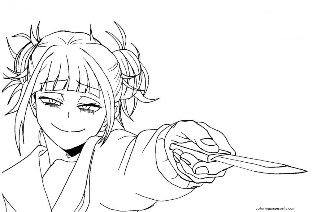 Himiko Toga Coloring Page
