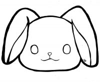 How to draw head of bunny for toddlers Coloring Page