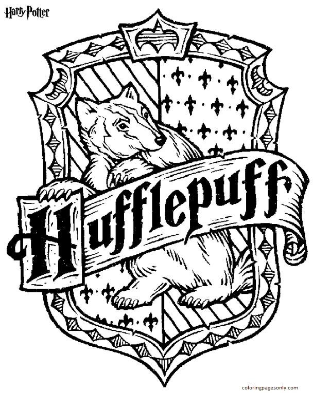 Hufflepuff Coloring Page