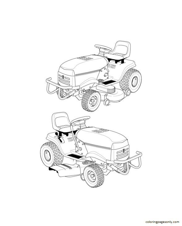 Husqvarna Riding Lawn Mower Coloring Page