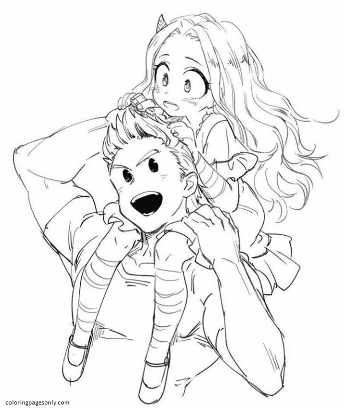 Image In Anime And Manga Collection My Hero Academia Coloring Page