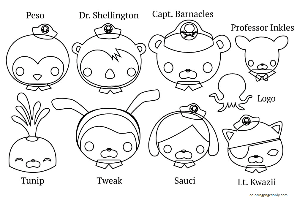 Image Octonauts Team Coloring Page