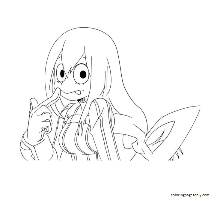 Image Student In My Hero Academia Coloring Page