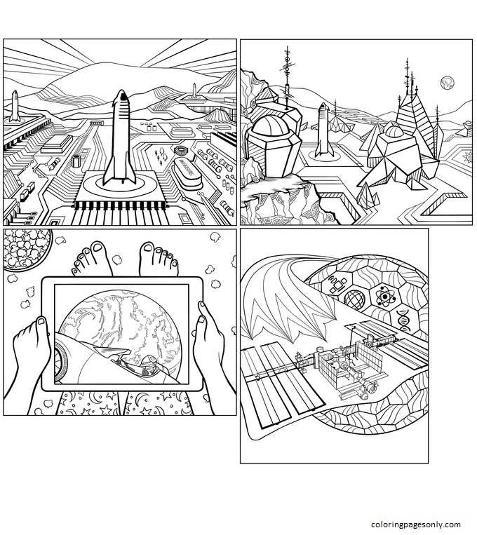 Inspiration of Elon Musk 1 Coloring Page