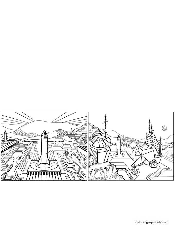 Inspiration of Elon Musk 2 Coloring Page